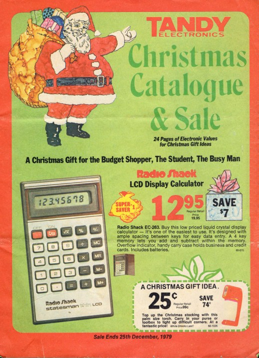 Tandy Christmas Catalogue And Sale, 1979