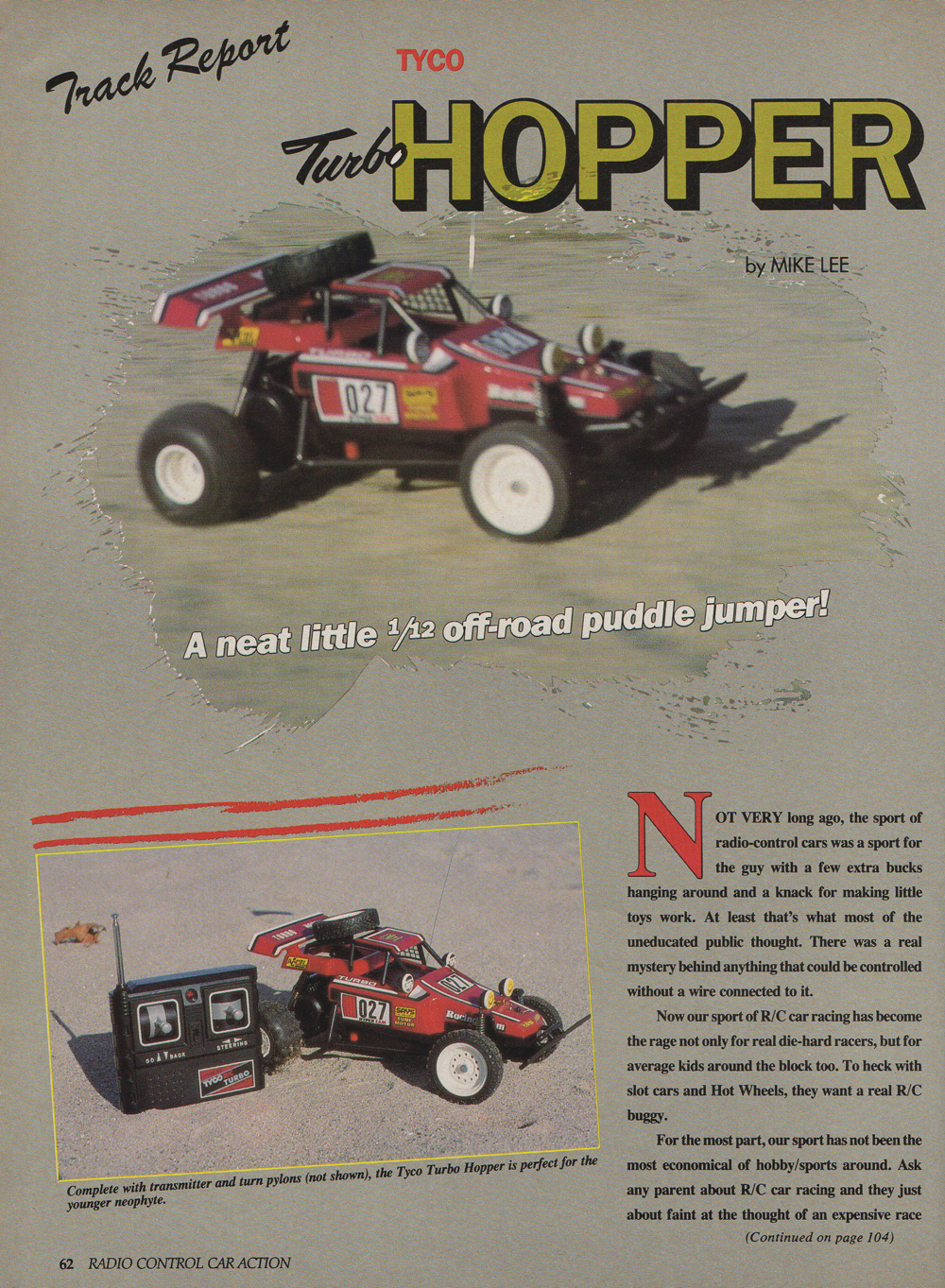 Rc Car Action >> Tyco Taiyo Turbo Hopper In R C Car Action 1986 R C Toy Memories