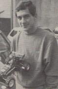 Ayrton Senna in 1985, holding a Tamiya Hotshot