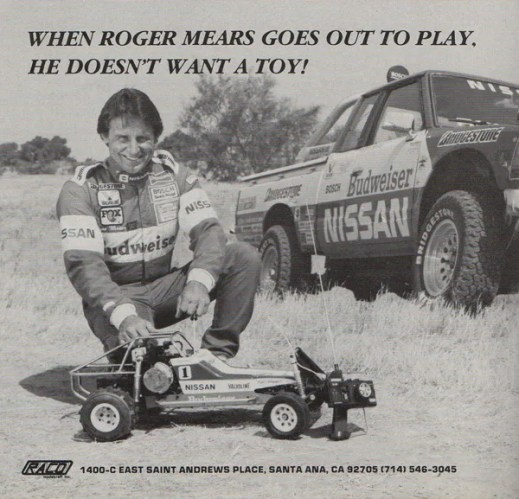 Roger Mears in an advertisement for the Raco Jac-Rabbit, circa 1987