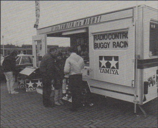 Tamiya Roadshow traveling hobby shop in the UK, in 1986