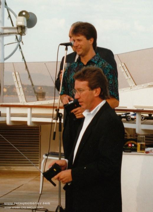 Michael Andretti and Tim Allen at the Monaco Grand Prix, 1993