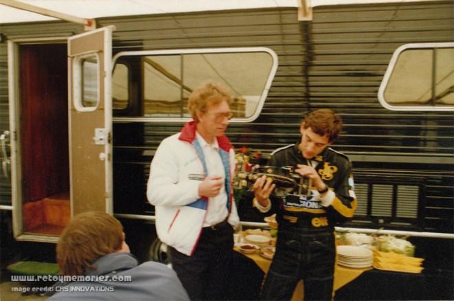 Ayrton Senna at British Grand Prix, Brands Hatch, 1986