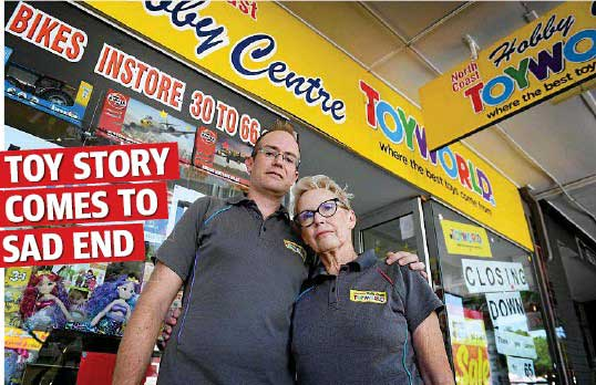 North Coast Hobby Centre (Toyworld) Lismore closed down in January 2019 after being in business for 65 years.