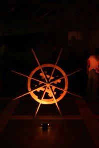 Water wheel kerala theme decor
