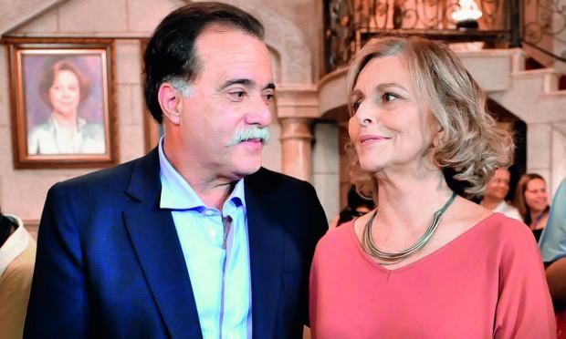 Tony Ramos e Irene Ravache nos bastidores