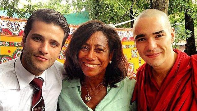 Gloria Maria posta foto com Bruno Gagliasso e Caio Blat