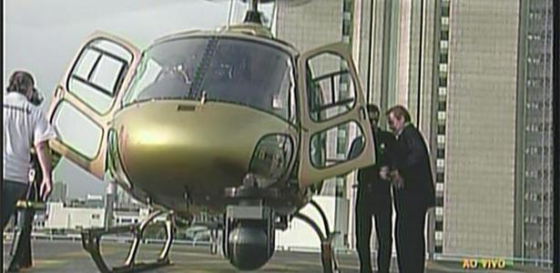 Gugu utilizava o helicóptero em seu programa