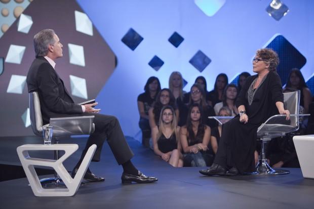 Roberto Justus conversa com Angela Leal