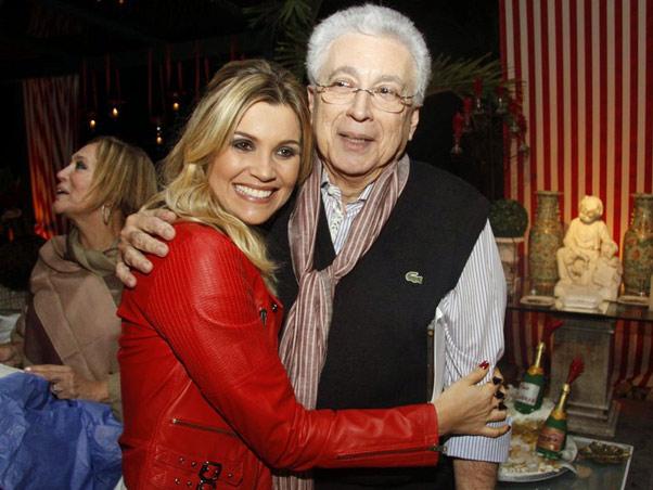 Flávia Alessandra e o autor Aguinaldo Silva