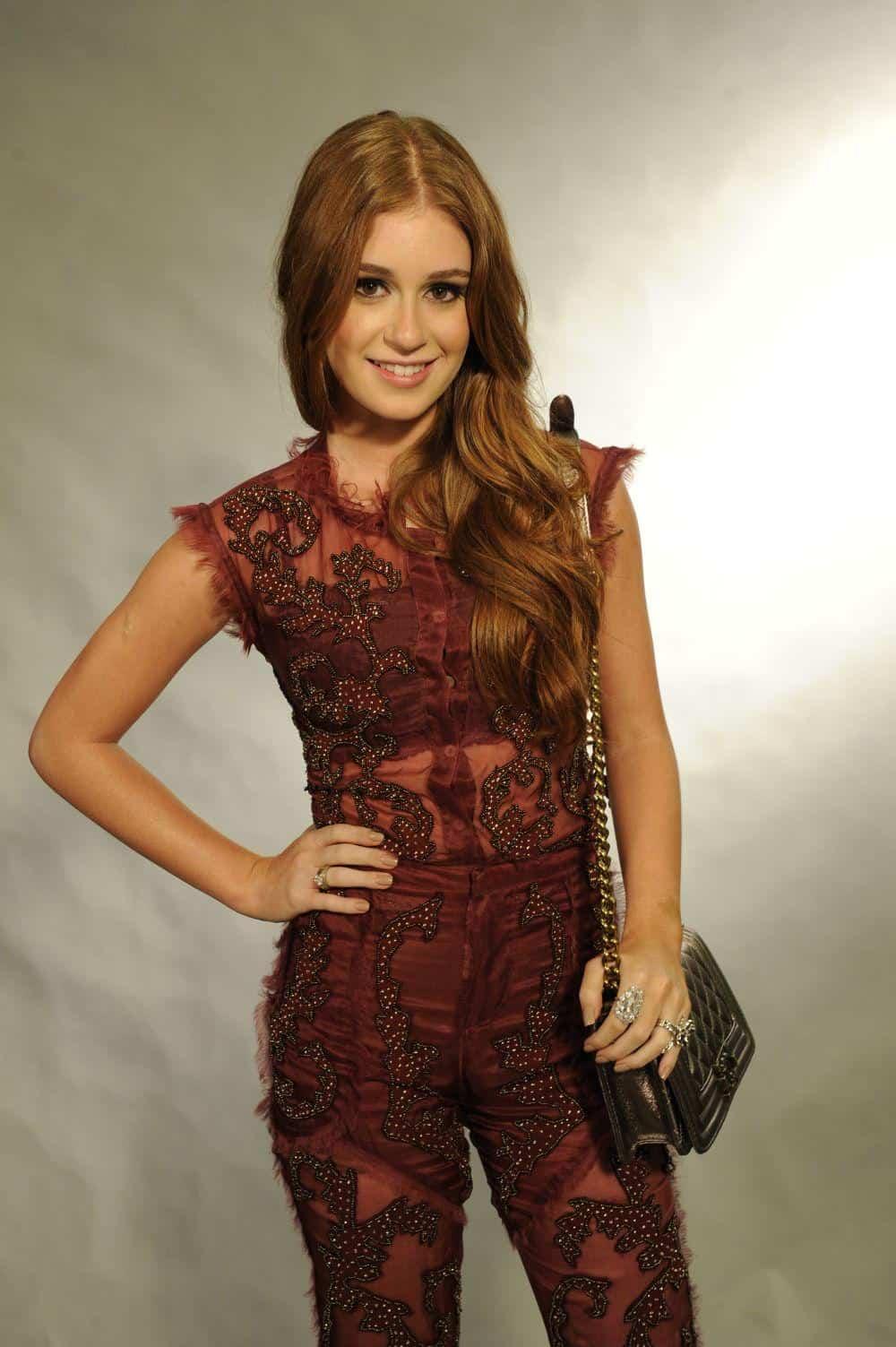A atriz Marina Ruy Barbosa, de 18 anos