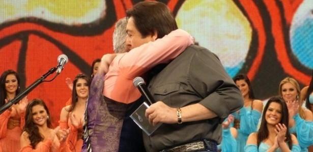 Reconciliação de Lulu Santos e Faustão aconteceu ao vivo