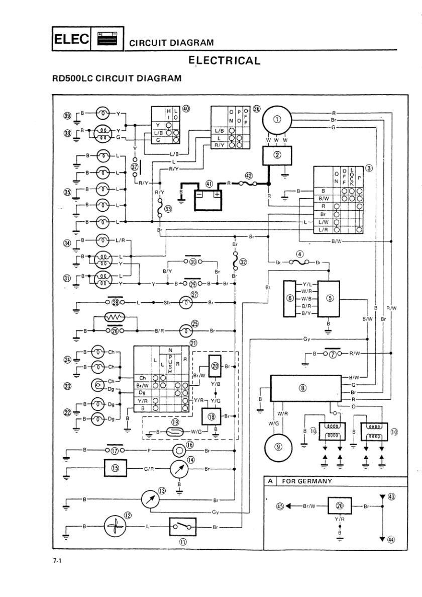 hight resolution of wiring diagram yamaha tzr 50 electrical wiring diagramtzr v4 electricsrd500lc wiring diagram and legend