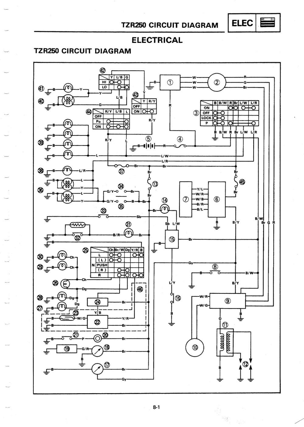 medium resolution of tzr v4 electrics fzr 250 wiring diagram