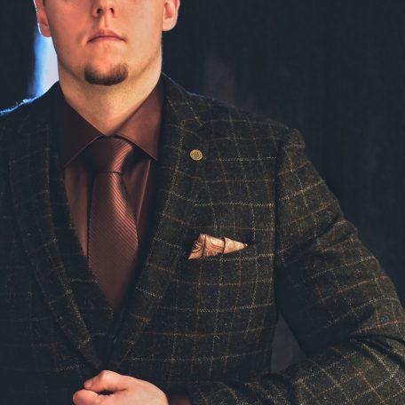 Luxurious silk necktie for gentlemen
