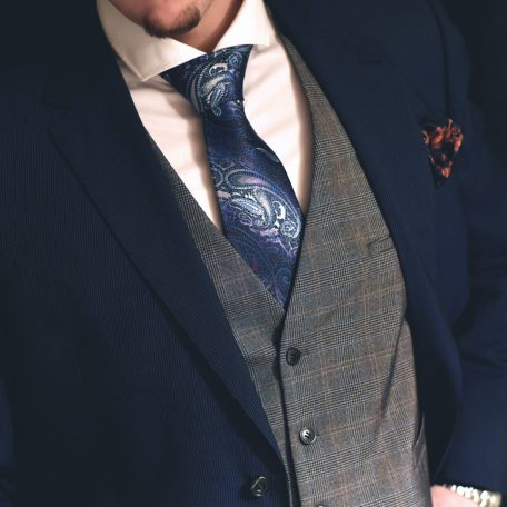 Luxurious gentlemen's necktie