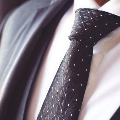 Silk formal elegant black tie