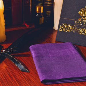 Purple single colored pocket square handkerchief