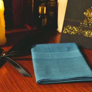 Turquoise pocket square handkerchief