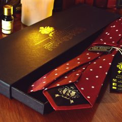 Pure luxury collection red polka dot necktie by RDB Royal