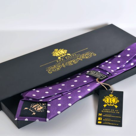Purple polka dot necktie PURE LUXURY COLLECTION
