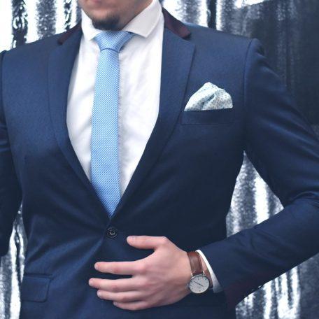Luxusná hodvábna modrá kravata RDB Royal