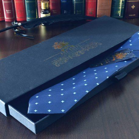 Modrá foulard kravata hodvábna