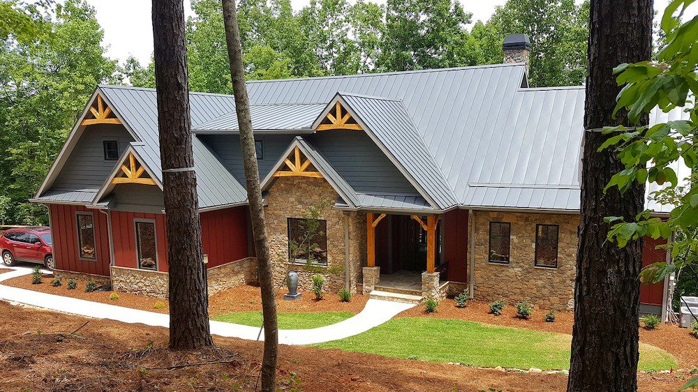 The DeCarbo house in western South Carolina was completed in June.