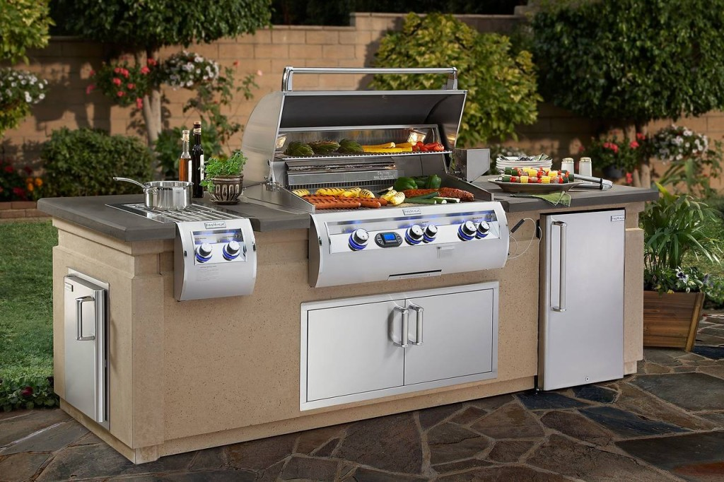 kitchen pantry doors home depot amazon undermount sink high-end, built-in barbecues get hot | realtor.com®