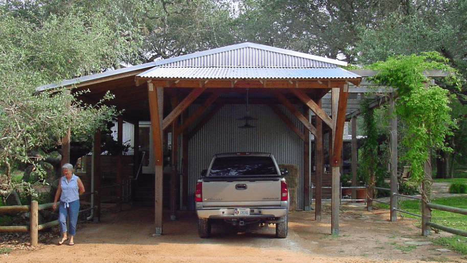 After: The new carport gives the home a much-more finished look.