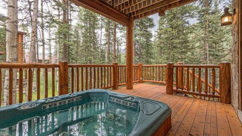 A large spa on the deck is a year round luxury