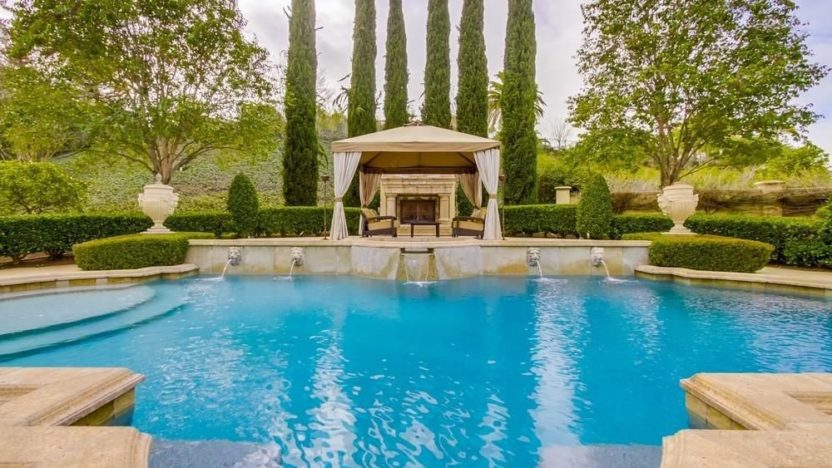Antonio Gates' estate pool in San Diego