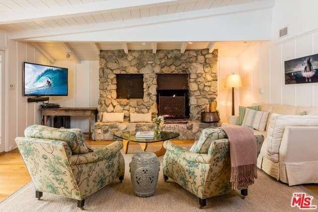 Original rock fireplace