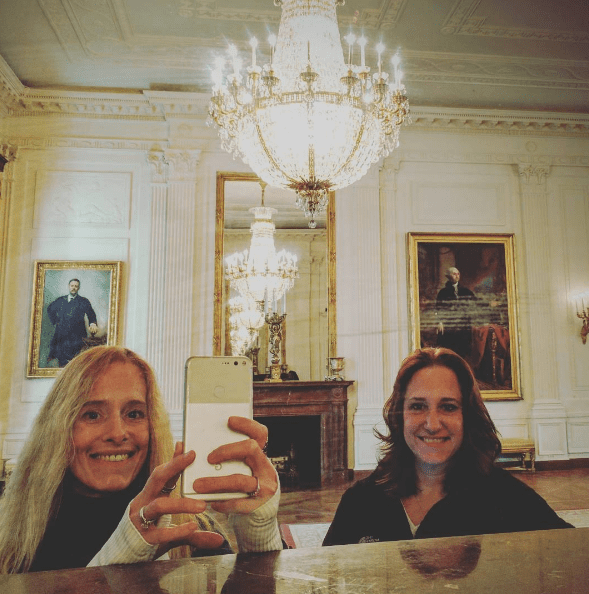 But first, let me take a (White House) selfie.