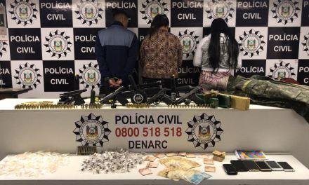 Polícia Civil encontra arsenal em casa da Zona Sul na Capital