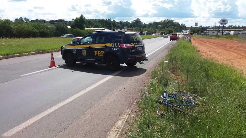 Ciclista morre em atropelamento em Nova Santa Rita