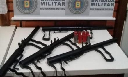 BM encontra fábrica de armas artesanais em Cachoeira do Sul