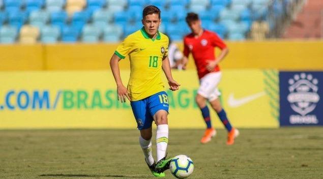 Pedro Lucas na Seleção sub-17