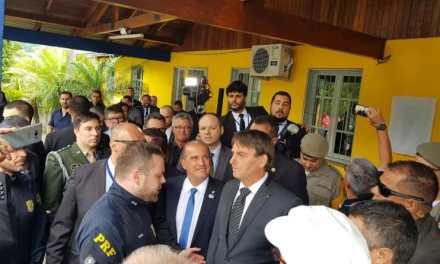 Bolsonaro prestigia a Inauguração de Delegacia da PRF em Bento Gonçalves/RS