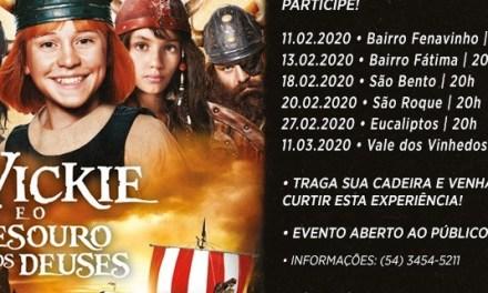 CINEMA DE RUA DE BENTO GONÇALVES INICIA SUAS ATIVIDADES NESTA TERÇA-FEIRA, 11