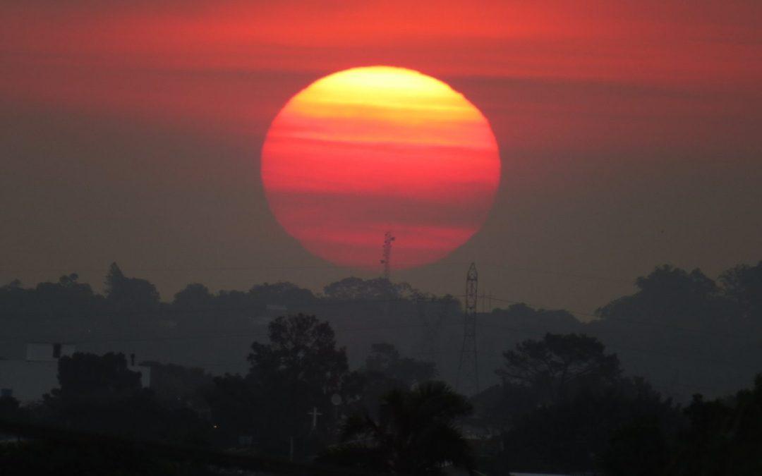 Calor intenso hoje deve favorecer risco de temporais no Estado