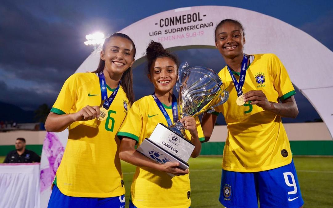 Gurias Gremistas conquistam a Liga Conmebol Sul-Americana com a Seleção Brasileira sub-20