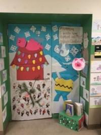 door decorating contest winners get in the holiday spirit ...