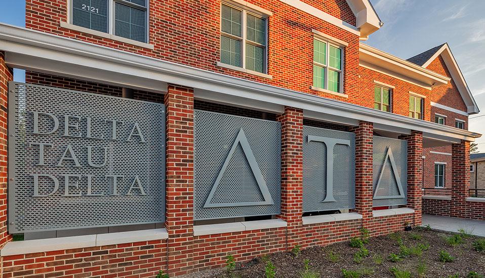 Iowa State University  Delta Tau Delta Fraternity House  RDG Planning  Design