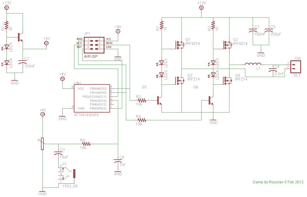 Microcontroller Class D Amplifier