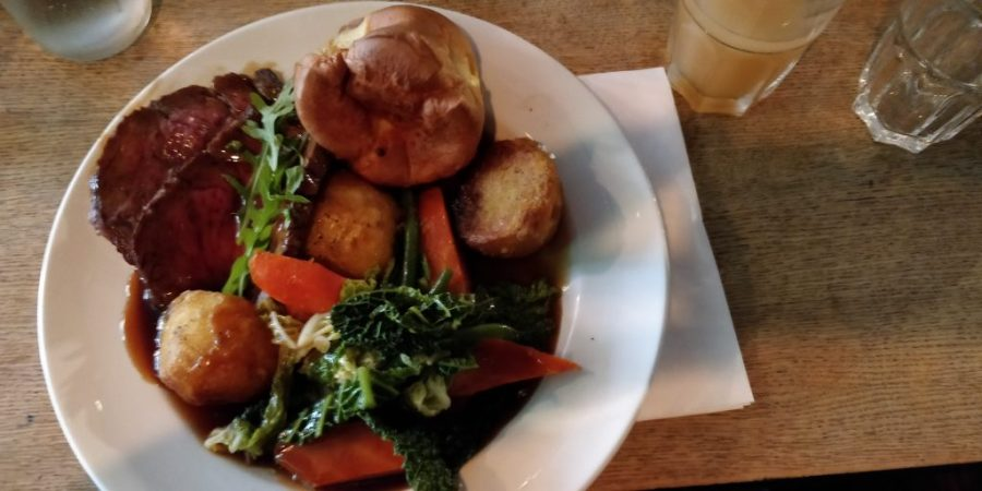 Roast dinner at The Gipsy Queen