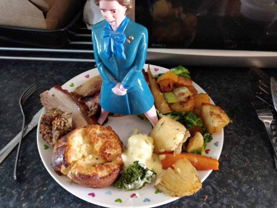 Margaret Thatcher in Roast Dinner