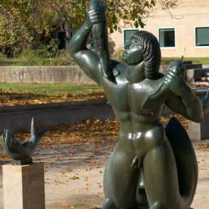 Sculptures by Carl Milles in the Triton Pools designed by Eliel Saarinen (1916)