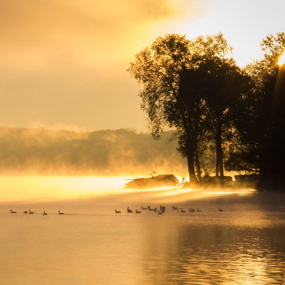 Sun Rising on Reeds Lake