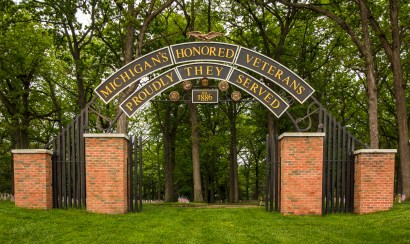 The old entrance to the Veterans' Cemetery